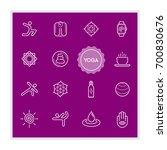 set of yoga raster illustration ... | Shutterstock . vector #700830676