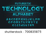 futuristic technology blue set... | Shutterstock .eps vector #700835875