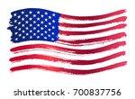 grunge american flag.... | Shutterstock .eps vector #700837756