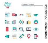 social media  communication ... | Shutterstock .eps vector #700839868