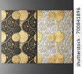 3d wall art  picture of gold... | Shutterstock . vector #700841896