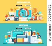 flat concept web banner of... | Shutterstock .eps vector #700844572