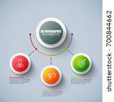 presentation business 3d... | Shutterstock .eps vector #700844662
