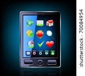 smartphone editable vector file.... | Shutterstock .eps vector #70084954
