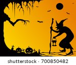 happy halloween  halloween... | Shutterstock .eps vector #700850482