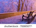 An Empty Bench On A Silent Snow ...