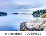 sunset in evening at boothbay... | Shutterstock . vector #700854622