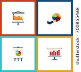 flat icon chart set of diagram  ... | Shutterstock .eps vector #700855468