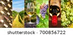 oenology and wine panoramic... | Shutterstock . vector #700856722