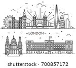historical and modern symbols... | Shutterstock .eps vector #700857172