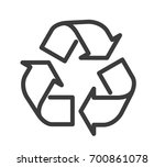 icon recycle line | Shutterstock .eps vector #700861078