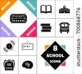 ticket icon and set perfect... | Shutterstock .eps vector #700868776