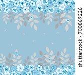 seamless floral pattern....   Shutterstock .eps vector #700869226