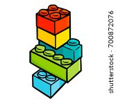 funny and cute colorful blocks...   Shutterstock .eps vector #700872076