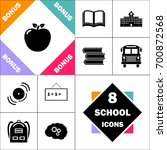 apple icon. contains such icons ... | Shutterstock .eps vector #700872568