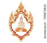 traditional thai golden... | Shutterstock .eps vector #700873822