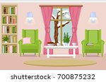 the interior of the living room.... | Shutterstock .eps vector #700875232