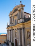 church in menton french riviera ... | Shutterstock . vector #700875706