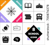 snowflake icon and set perfect... | Shutterstock .eps vector #700876378