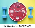 time for exercising clock and... | Shutterstock . vector #700876432