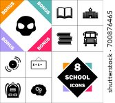 alien head icon and set perfect ... | Shutterstock .eps vector #700876465