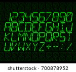 vector electronic font n the... | Shutterstock .eps vector #700878952