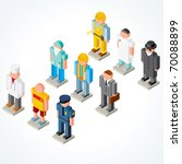 people occupations vector icons ...