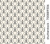 seamless pattern with crown... | Shutterstock . vector #700889506