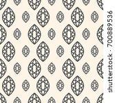 seamless pattern with gemstones ... | Shutterstock . vector #700889536