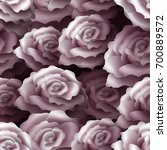 seamless pattern with roses.... | Shutterstock . vector #700889572