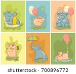 vector greeting cards with... | Shutterstock .eps vector #700896772