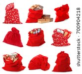 Collage Of Santa's Bags On...