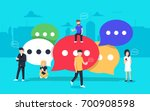 speech bubbles for comment and... | Shutterstock .eps vector #700908598