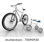 Children's Bicycle Against A...