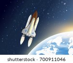 take off space shuttle. a... | Shutterstock .eps vector #700911046