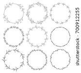 set of 9 black hand drawn... | Shutterstock . vector #700912255