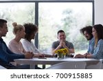 multiethnic group of business... | Shutterstock . vector #700915885