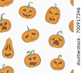 vector seamless pattern with... | Shutterstock .eps vector #700917346