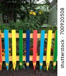 a school wooden fence made of... | Shutterstock . vector #700920508
