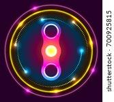 spinner luminous abstraction in ...   Shutterstock .eps vector #700925815