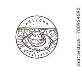 vintage vector round label.... | Shutterstock .eps vector #700934092