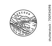 vintage vector round label.... | Shutterstock .eps vector #700934098