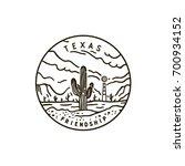 vintage vector round label.... | Shutterstock .eps vector #700934152