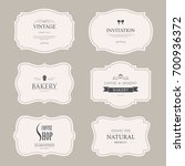 set of vintage labels old... | Shutterstock .eps vector #700936372