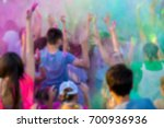 color holi festival out of... | Shutterstock . vector #700936936