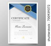 certificate premium template... | Shutterstock .eps vector #700939372