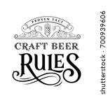 craft beer logo | Shutterstock .eps vector #700939606