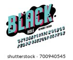 vector of bold abstract font... | Shutterstock .eps vector #700940545