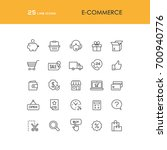 e commerce and online shopping... | Shutterstock .eps vector #700940776