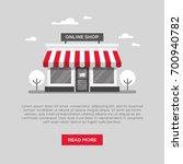 storefront illustration in flat ... | Shutterstock .eps vector #700940782